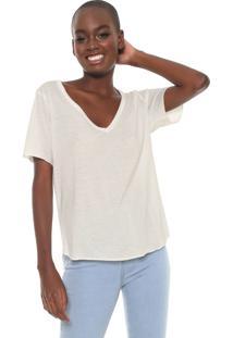 96002a12a1 Blusa Branca Cantao feminina