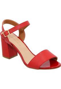 Sandalia Sandalo Clave De Fa Red - Feminino-Vermelho