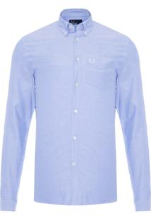 Camisa Masculina Classic Oxford - Azul