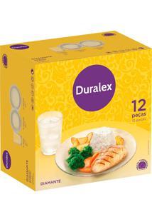 Aparelho De Jantar 12 Peças Diamante Duralex - Nadir - Incolor