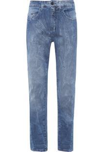Calça Masculina Jeans Five Pockets Slouchy Skinny - Azul