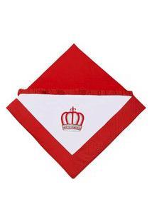 Manta Enxoval Padroeira Baby Coroa Vermelho..
