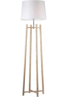Luminária De Chão Aries- Branca & Marrom Claro- 165Xrivatti