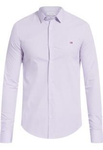 Camisa Masculina Slim Cannes Micro Xadrez - Vinho