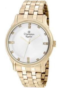 Relógio Champion Crystal Feminino - Feminino-Dourado