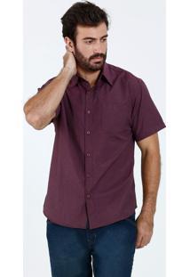 Camisa Masculina Social Manga Curta Marisa