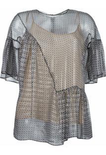 Stella Mccartney Blusa Translúcida - Preto