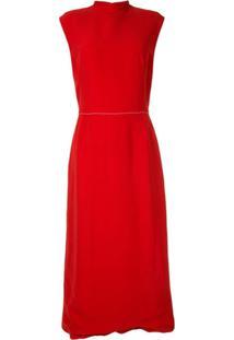Marni Vestido Com Abotoamento - Vermelho