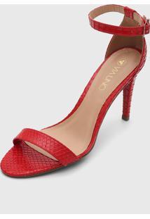 Sandália Via Uno Cobra Vermelha