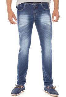 Calça Jeans Confort Skinny - 243913 - Sawary Azul