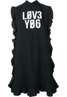 Redvalentino Vestido 'Love You' - Preto