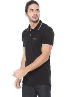 Camisa Polo Wrangler Logo Preta