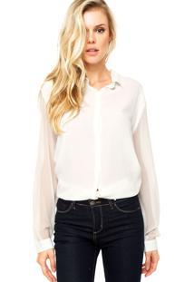 Camisa Manga Longa Forum Rose Branca