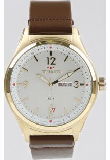 Relógio Analógico Technos Masculino - 2105Az2B Dourado - Único