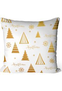 Capa De Almofada Love Decor Avulsa Decorativa Merry Christmas Gold