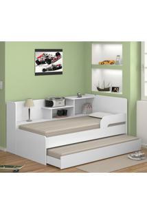Bicama Com Estante 0740 Branco - Mutimóveis