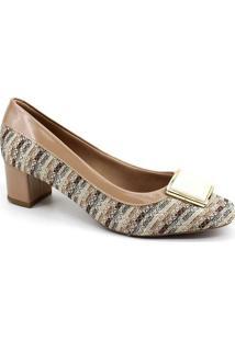 Sapato Scarpin Dsanny S640 A - Feminino-Bege