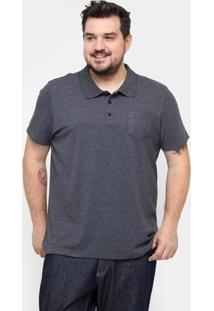 Camisa Polo Kohmar Piquet Plus Size Masculina - Masculino