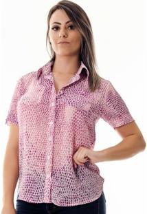 Camisa Pimenta Rosada Da Keila - Feminino-Lilás+Branco