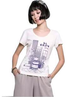 Camiseta Feminina El Chavo Geek10 - Branco