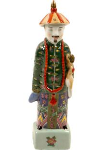 Escultura Decorativa De Porcelana Chinês Hutong
