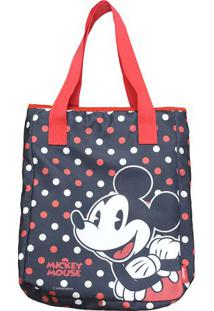 b09ab7ff3 Bolsa Mickey Mouse® - Preta & Vermelha - 25X15X10Cm