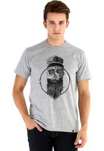 Camiseta Ouroboros Skull Marinero Cinza