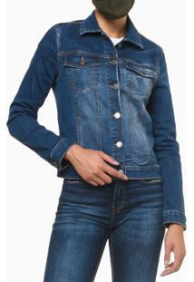 Jaqueta Jeans Trucker - Azul Médio - P