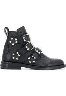 Zadig&Voltaire Ankle Boot 'Lauren' De Couro - Preto
