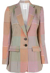 Rosie Assoulin Blazer Com Estampa Xadrez - Estampado