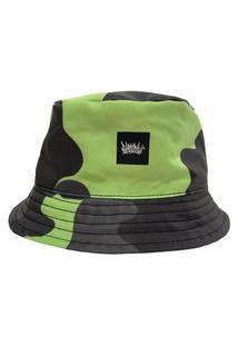Chapéu Bucket Chronic Camuflado De Verde