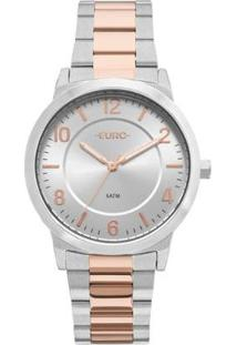 Relógio Feminino Euro Eu2036Ylw/5K Aço - Feminino-Prata