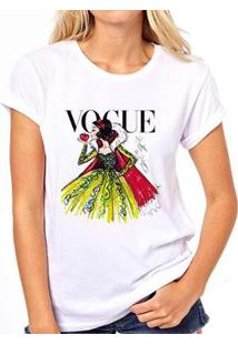 Camiseta Coolest Branca De Neve Vogue Feminina - Feminino-Branco