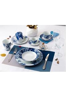 Aparelho De Jantar 20 Peças Blue Garden - Casambiente - Azul
