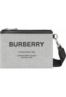 Burberry Clutch Com Estampa Horseferry - Preto