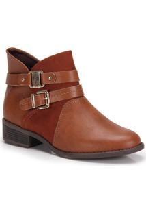 Ankle Boots Conforto Modare Fivela - Caramelo