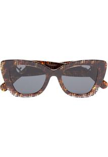 Fendi Eyewear Óculos De Sol 'Havana' - Marrom