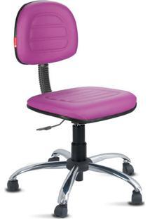Cadeira Secretária Costura Cromada Courvin Lilás