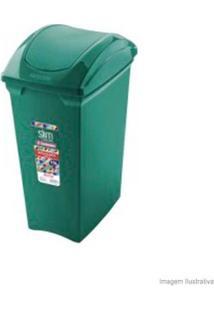 Lixeira Basculante Slim Color 15 Litros Verde Sanremo