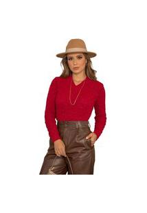 Blusa Tricot Feminina Inverno Karen Shopping Do Tricô Lã