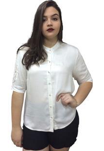 Camisa Lisa Moché - Feminino-Branco