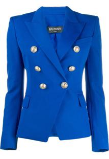 Balmain Button-Embellished Blazer - Azul