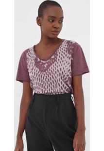 Camiseta Calvin Klein Jeans Animal Print Roxa - Kanui