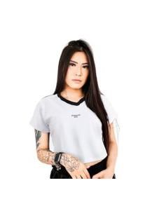 Camiseta Cropped Prison Nyc Street Branca