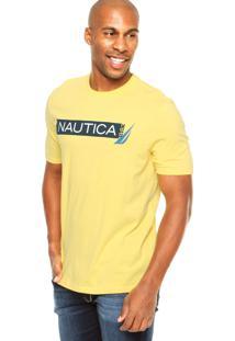Camiseta Nautica Estampada Amarela