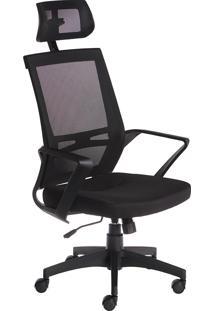 Cadeira Presidente Office Brasil Cadeiras Com Encosto Cabeça Preto
