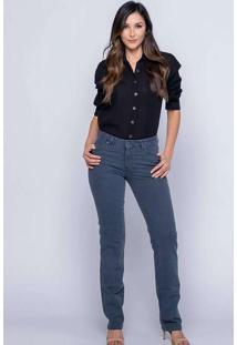 Calça Skinny Almaria Plus Size Shyros Jeans Cinza