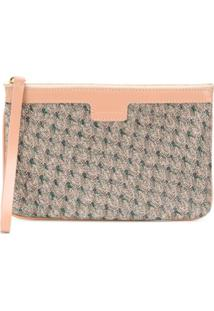 Missoni Clutch Com Zíper E Bordado - Neutro