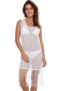 Vestido Saída De Praia Rendado Off White | 595.754