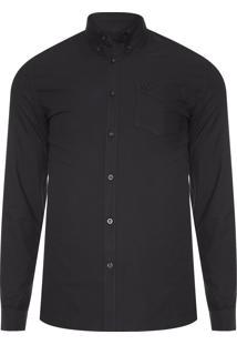 Camisa Masculina Classic Oxford - Preto